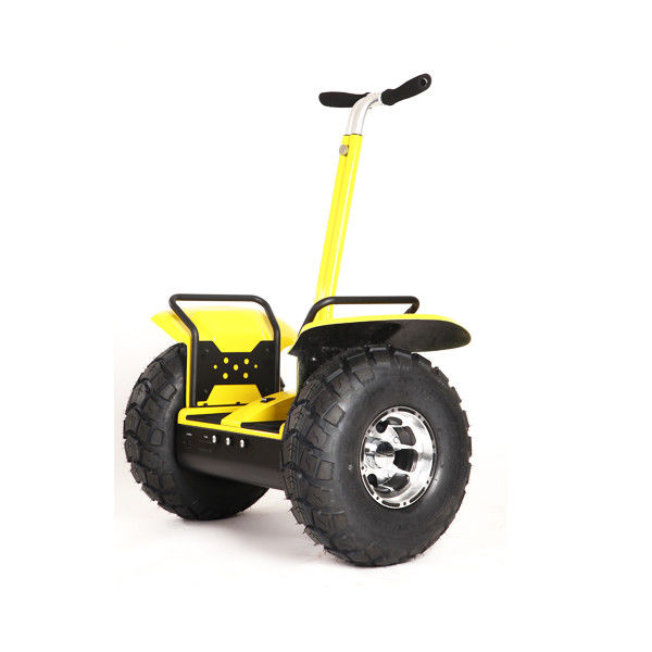 Patented Electric Chariot Scooter Yellow Green 6 Axles Gyroscope With Golf