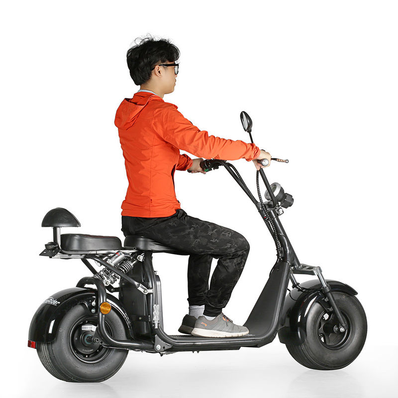 EcoRider 60v 12ah lithium battery 1500w brushless motor Harly Citycoco Electric Scooter with Fat Tire, EEC certificate
